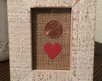 Anniversary/ Wedding Penny Frame