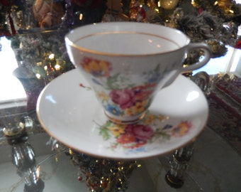ENGLAND CLARE TEACUP and Saucer