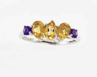 Ring Multi-colours Semi-Precious Stones