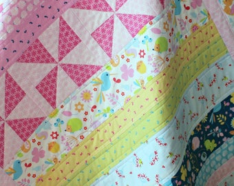Pink Baby Quilt, Pinwheel Quilt, Quilts for Baby Girl, Baby Quilts Handmade Girl, Baby Quilts For Sale, Homemade Quilts, Baby Girl Quilt