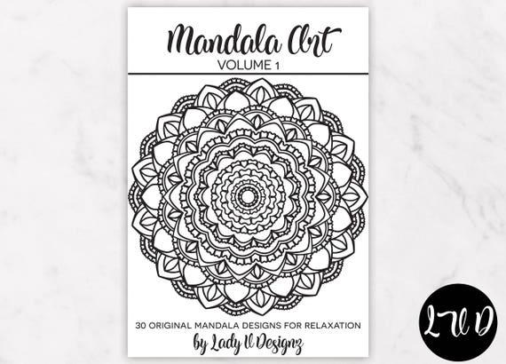 Printable Mandala Coloring Book VOL 1 30 Original Hand Drawn