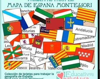 Tarjetas Geografía de España -español-