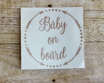 Baby On Board Car Decal First Baby Babies on Board Baby Sticker Mom Car Decal Car Sticker Baby Board Custom Car Decal New Baby Car Sticker