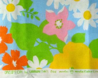 SALE : Urban Chiks Dream On Summer Lovin' blue moda fabric Fat Quarter or more