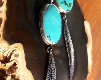 Cloud Mountain Turquoise Earrings