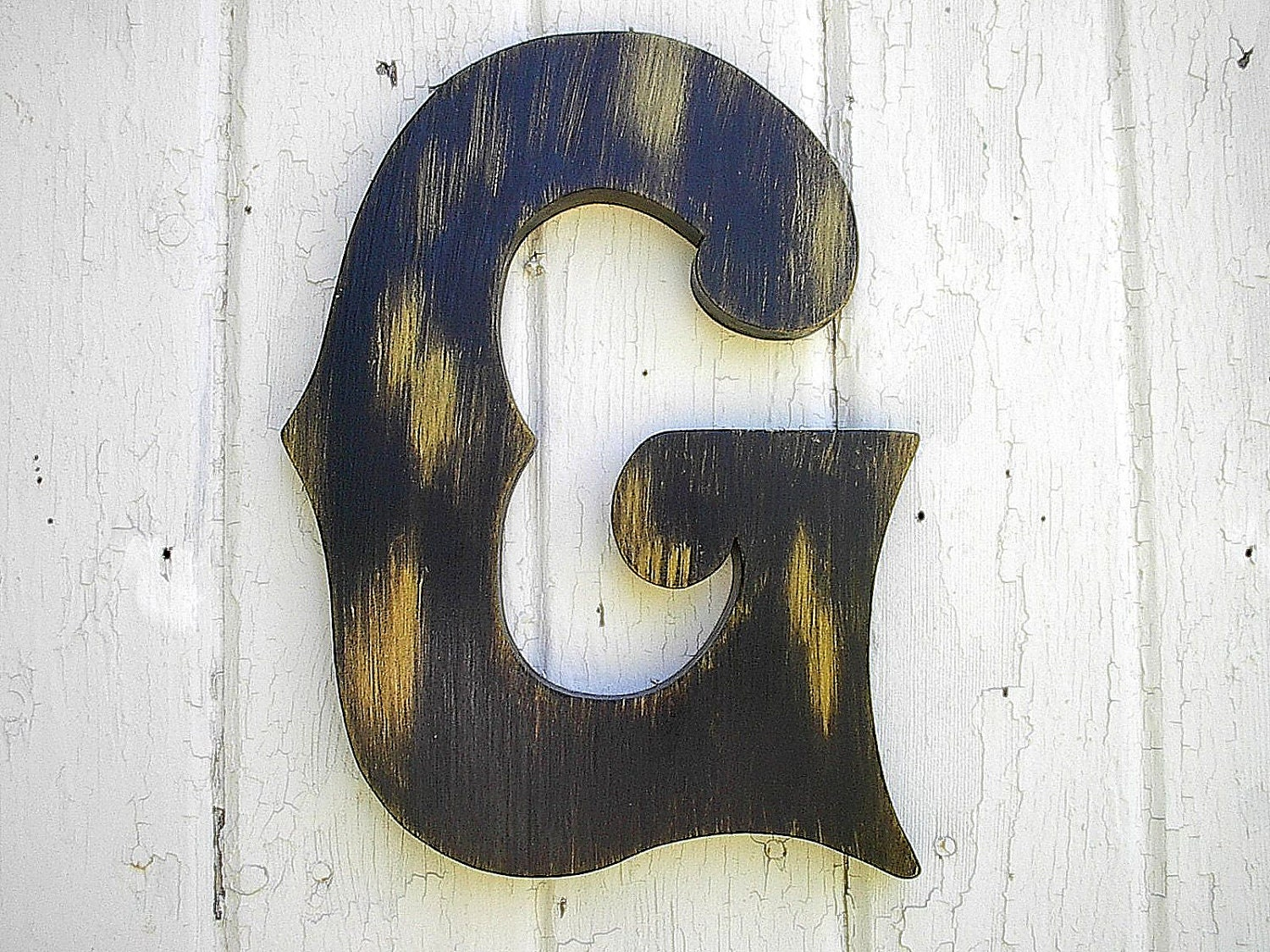 Letter C Wall Art Wooden Letters G 12 Inch Decorative Wall Decor Distressed Kids