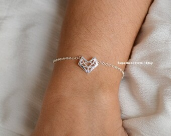 fox bracelet, fox bracelets, gold fox bracelet, silver fox bracelet, animal bracelet, animal, fox, animal bracelets, fox jewelry