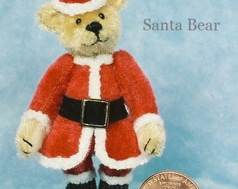 -Santa Bär Miniatur Teddy Bär Kit - Muster - von Emily Landwirt zum halben Preis