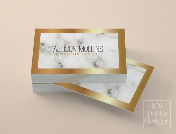 Marble business card white and gold business card custom colourmoves
