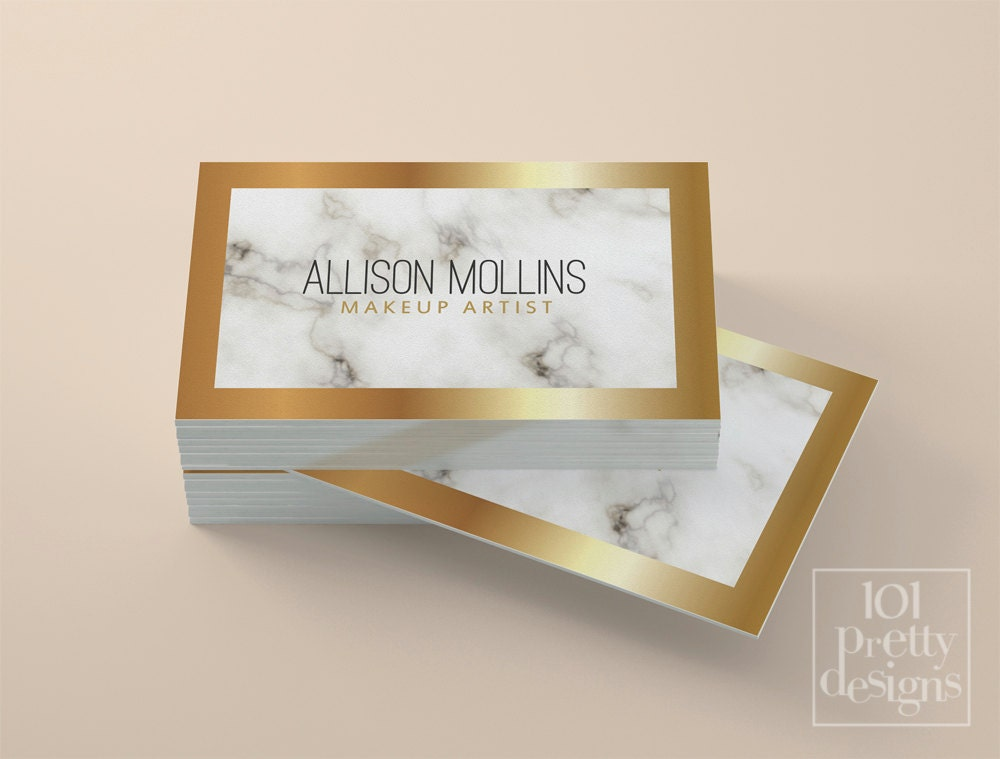 Marble Business Card White And Gold Business Card Custom - Custom business card template