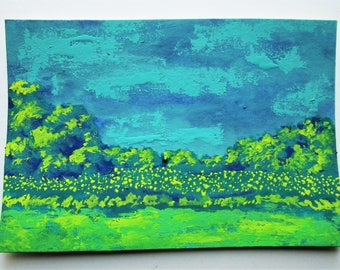 "Sarah's Meadow #249 (ARTIST TRADING CARDS) 2.5"" x 3.5"" by Michael Kraus"
