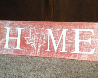 TEXAS state HOME sign