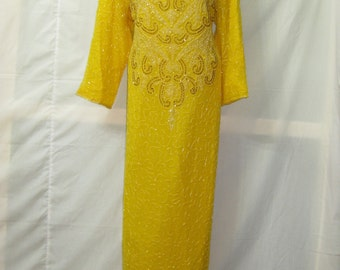 Yellow/Gold long gown#15