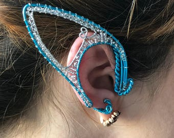 Elven ears (a pair). elven ear - ear cuff - elvish earring - elf ear