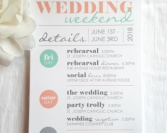 Wedding Itinerary   wedding itinerary     wedding schedule     wedding timeline - Style IT4 - COOL COLLECTION