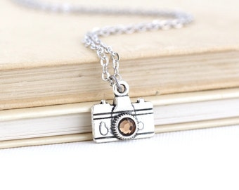 Mothers Day Gift - Photographer Gift - Charm Necklace - Camera Necklace - Photography Gift - Camera Jewelry - Gift for Her - Unique Gift