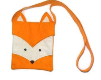 Childrens Fox Bag, Kids Bag, Fox Bag, Felt Bag, Animal Bag