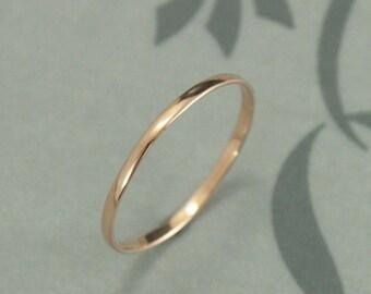 Thin Rose Gold Band~Super Skinny Minnie~1mm Wide by .5mm Thick~Rose Gold Midi Ring~10K Rose Gold Ring~Petite Band~Women's Wedding Ring