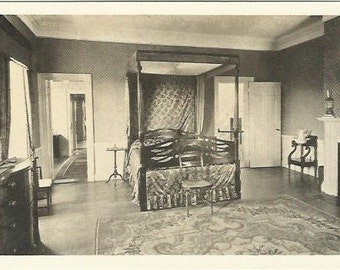Montpelier Thomaston Main Gold Room or State Bedroom Major General Knox Vintage Postcard 1940's