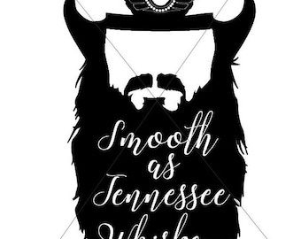 Smooth As Tennessee Whiskey Sublimation Transfer for Shirts