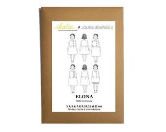 Patron Robe Blouse Elona by Ikatee pour fille du 3 au 12 ans