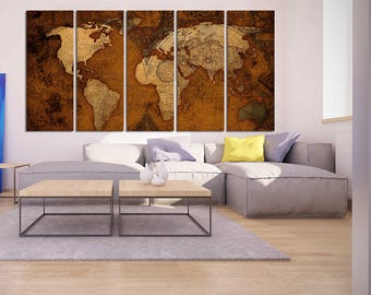 brow old world map canvas print world map wall art set world map poster antiue world