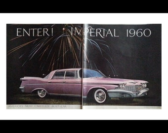 Pink Cadillac.  2 page ad 1960 model.  Beautiful features and it's PINK.  Ready for Framing.