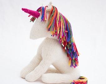 Unicorn Pattern (US Knitting) pdf unicorn pattern Pony Knitting Pattern Rainbow Unicorn Pattern Unicorn Toy Pattern Toy Unicorn Patterns