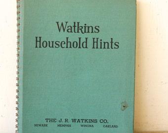 Vintage Watkins Household Hints Book The J.R. Watkins Company By Elaine Allen