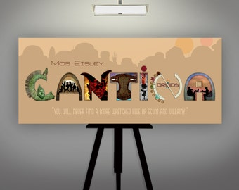 "Star Wars Inspired ""Cantina""  8X17 Mos Eisley Cantina Art Print by Herofied"