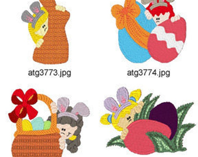 Easter-Peekers ( 7 Machine Embroidery Designs from ATW ) XYZ17C