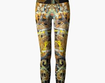 Yoga Leggings - Subway Lines Original Photo Design Workout Wear
