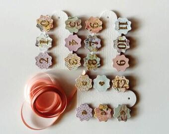 Girls 0 - 12 Months DIY Photo Banner Kit - First Birthday Milestone Banner - Boho Party, Tea Party - Peach, Lilac, Aqua