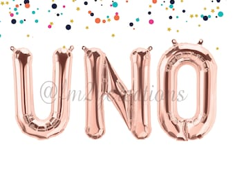 UNO BIRTHDAY PARTY | First Birthday Banner | One Gold Letter Balloons | 1st Birthday | Uno Birthday | Uno Birthday Banner Gold Letters