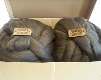 Giant Knitting Wool. 1 LB / 450 gr / 72 colors / 19 mic. Super Chunky Merino Yarn. Super bulky Yarn. Big knit stitch. Giant yarn by woolWow