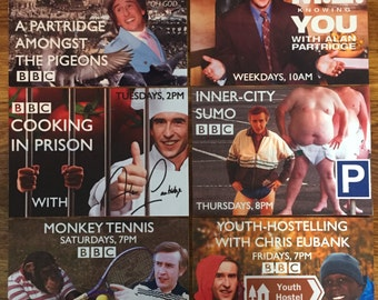 Alan Partridge Postcards (Packs of 6, 3 and 1)