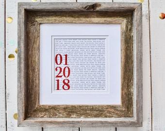 Anniversary Gift For Men   Anniversary Gift   Anniversary Gift for Wife   Anniversary Gift for Husband   First Anniversary Gift 8X8