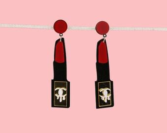 Red Lipstick Fun Earrings