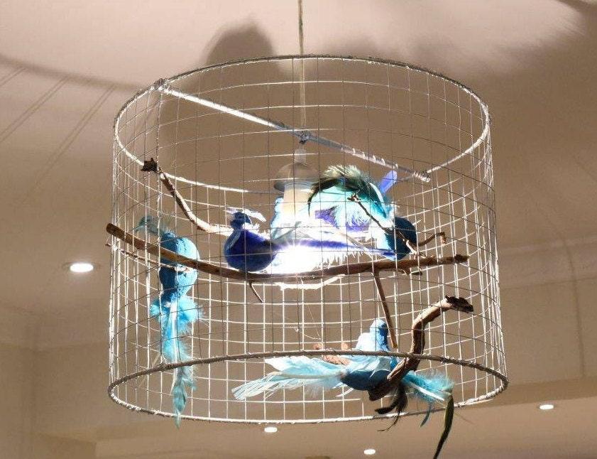 Custom birdcage pendant light unique chandelier custom light bird custom birdcage pendant light unique chandelier custom light bird light cage pendant light bird cage chandelier aloadofball Image collections