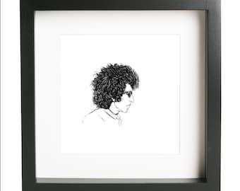 Bob Dylan Ink Drawing