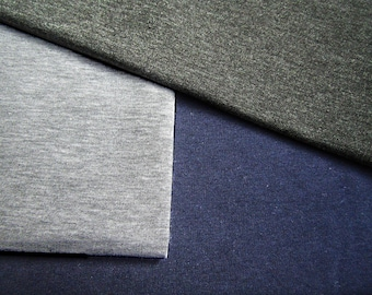 Sweatshirt jersey fabric  Jersey Fabric  3 colors  Jersey Knit Cotton  Jersey cotton fabric  Hoodie fabric - Extra Wide