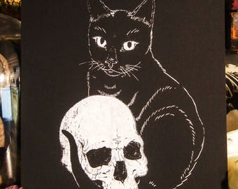 Embracing Death - Hand Pulled Screen Print