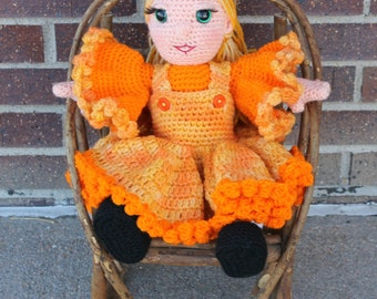 Pumpkin Pie Doll Pattern with Permission to sell the finished item