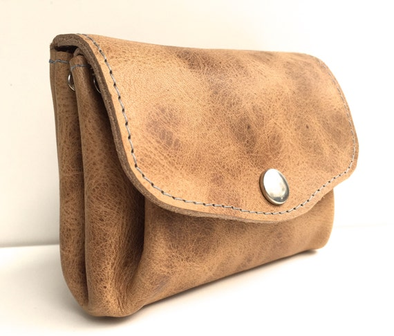 Vegetable tanned leather , leather wallet