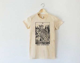 Tarot Card Shirt, The Empress Shirt, Womens Graphic Tee, Tumblr Clothing, Tarot Gifts, Modern Graphic Tee, Womens Tshirt, Tumblr Tshirt