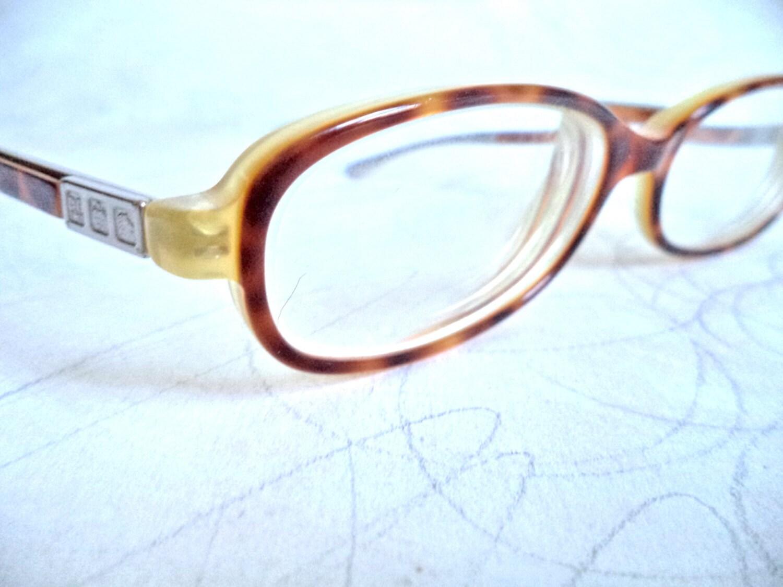 Ralph Lauren Faux Schildkröte Brille 4F Italien rechteckigen