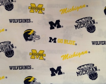 Collegiate Fabric - Michigan - Wolverines