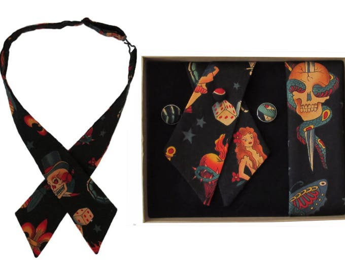 Tattoo Design Crossover Tie & Boxed Gift Set
