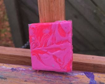 Light and dark pink-acrylic on foamboard