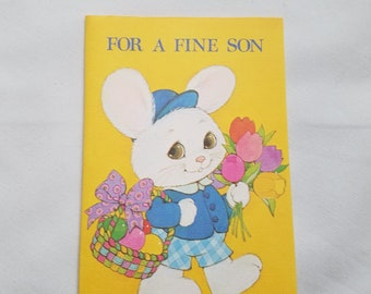 Vintage Son Easter Card Boy Young NOS Unused